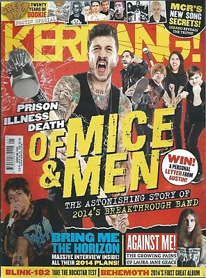 KERRANG! #1502 FEB 2014: OF MICE & MEN Bring Me The Horizon ISSUES Against Me!