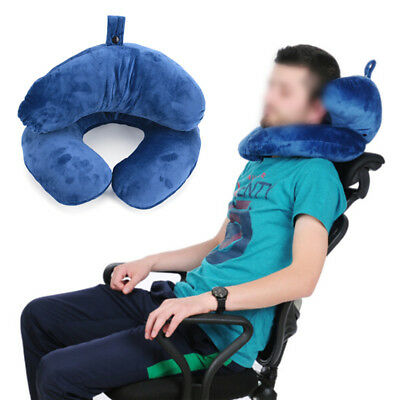 J-Shape Travel Pillow for Airplane Inflatable Neck Pillow Travel Accessories、HGU
