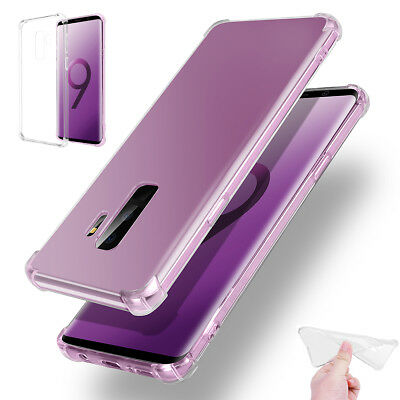 For Samsung Galaxy S9 / S9 Plus Clear Shockproof Case TPU Rubber Silicone Cover