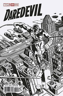 Daredevil 600 Frank Miller 1:1000 Remastered B&w Sketch Variant Nm Pre-Sale 3/28