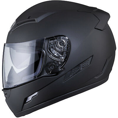 THH TS-80 Plain Matt Black Motorcycle Helmet Motorbike Solid Bike Internal  Visor 9933402c0f6f7