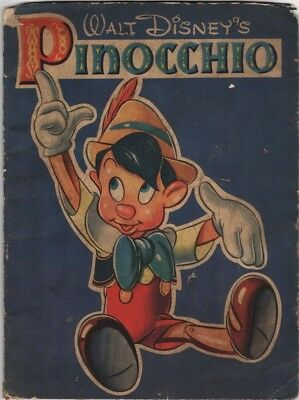 Walt Disney's Pinocchio - Book With Pictures to Color, Whitman, 1939 2nd we have