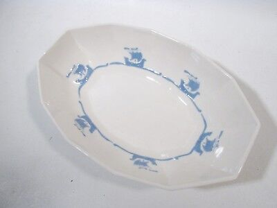 "Arts & Crafts Rookwood Pottery Blue Sailing Ships 10.5"" Oval Bowl Shipware"