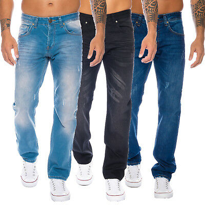 Rock Creek Designer Herren Jeans Hose Denim Regular Slim Jeans W29-W44 M15