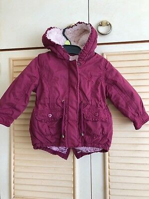 Baby girl parka 9-12 months