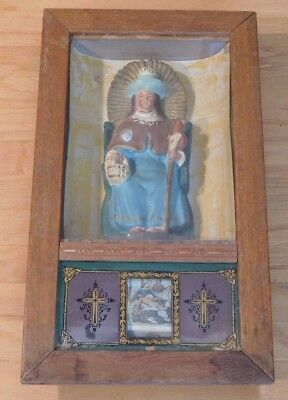 Rare Antique 19th Century Icon-Jesus on the Cross-1st-14th Station-Scroll-Nice