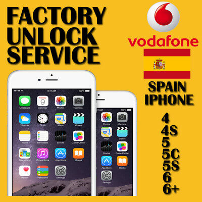 Official Factory Unlock Service for iPhone Vodafone Spain X 8 7 6+ 6 5S 5C 5 4S