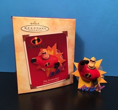 MR. INCREDIBLE Hallmark Keepsake Disney Pixar 2004 Ornament Kapow Christmas