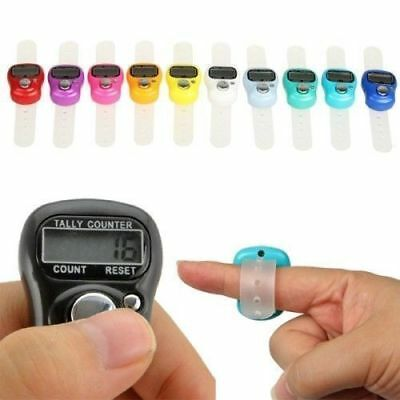 Digital Finger Ring Tally Hand Held Knitting Row counter CLICKER TASBEE LED Ligh