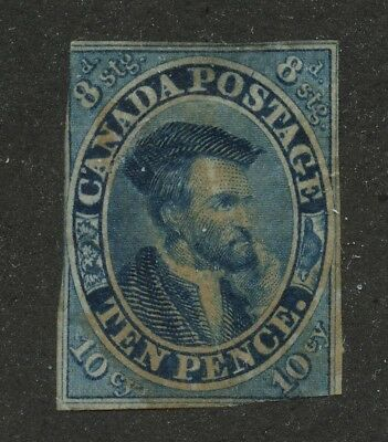Canada 1855 Jacques Cartier 10d blue #7 used