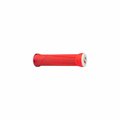 ODI AG1 LOCK-ON FIRE RED BMX-MTB BICYCLE GRIPS