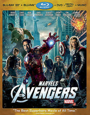 Marvels The Avengers (Four-Disc Combo: B Blu-ray