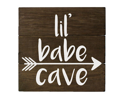 Rustic Nursery Wall Decor for Girls - Lil Babe Cave
