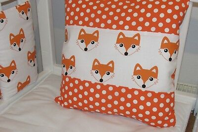 "🍁 New Babies Cute Orange 12"" Fox Cushion 🍁"
