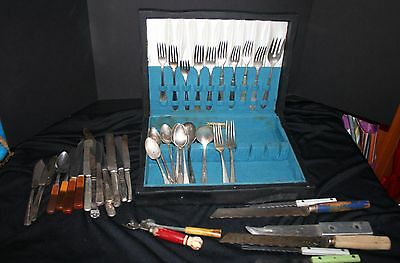 William Rogers Silver Ware Box Miscellaneous Silver Plate Flatware Forks Knives