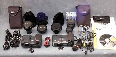 Two Nikon Coolpix (950 & 995) + 4 Lenses & Accessories - Free Usa Delivery