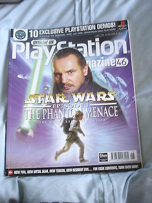 Official UK Playstation magazine with disc  issue # 46 - Star Wars