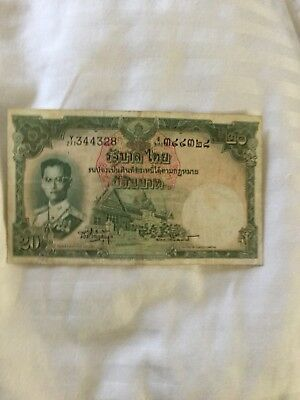 OLD THAI Bank Banknote His Majesty King Bhumibol rama9 for since 1961