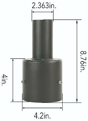 Tenon Adaptor for 4 Inch Round Poles. Bracket. Steel Lighting Mount.