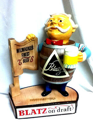 Blatz beer sign 1958 metal statue tavern keeper man vintage bar figure GUY IH6