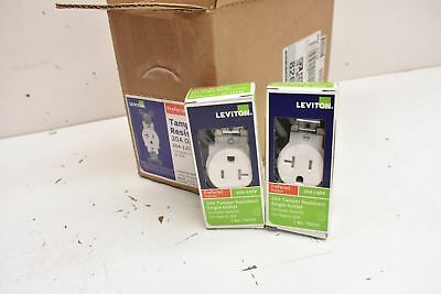Leviton 20A Tampered Resistant Single Outlet 125V R52-T5020-WS Lot of 10