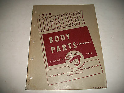 1950 Mercury Original Body Parts Catalog Sheet Metal Trim  Convertible Top