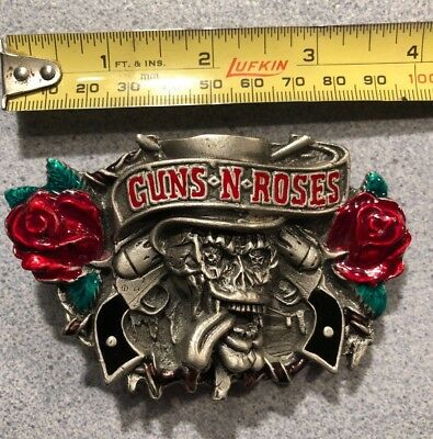 vintage guns n' roses belt buckle