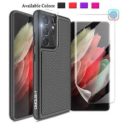 For Samsung Galaxy S8 Active Shockproof Hybrid Phone Case With Screen Protector