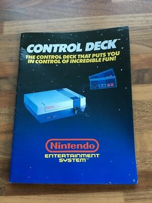 nintendo nes control deck console instruction manual book booklet rh picclick co uk Nintendo GameCube Nintendo Wii