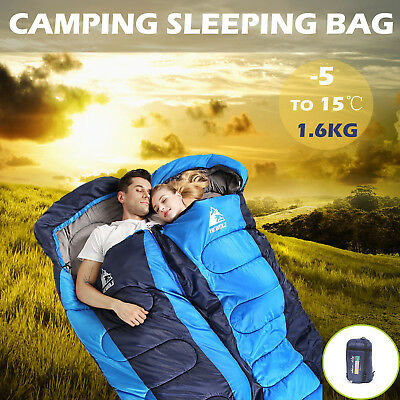 Thermal Single Sleeping Bag Outdoor Camping Hiking Tent Envelope Compact Design