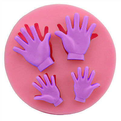 3D Human Hand  Silicone Fondant Mold Cake Decoration Tools Chocolate Mould w/