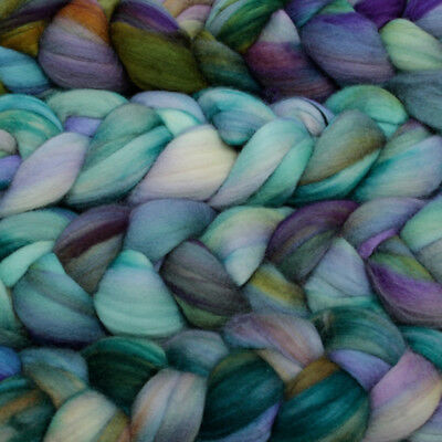 Hand Dyed Roving Wool Tops Spinning Fiber Wet Felting Fibre Handspun Yarn Crafts