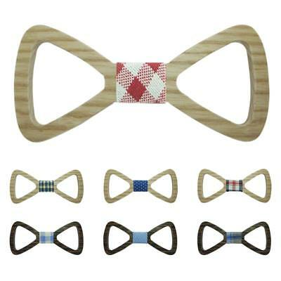Mens Boys Bow Tie fashion Hollow Out Wooden Bowtie Formal Party Bowtie Necktie