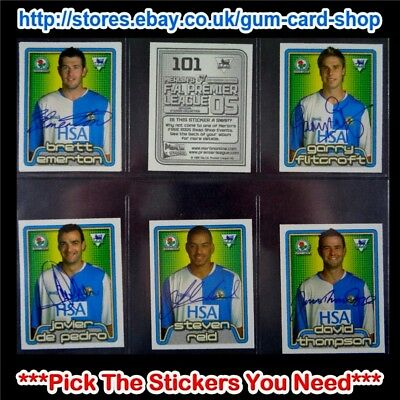 Merlin's Premier League 2005 (100 To 199) *Select The Stickers You Need*