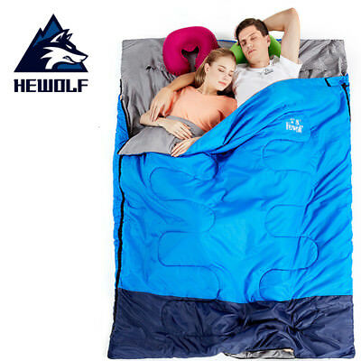 Double Sleeping Bag Outdoor Camping Hiking Tent Thermal Winter 220x145cm 0-10℃