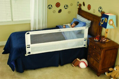 """Regalo Hide Away Long Bed Rail White 54""""x20"""" Security Sleep Baby Children Safety"""