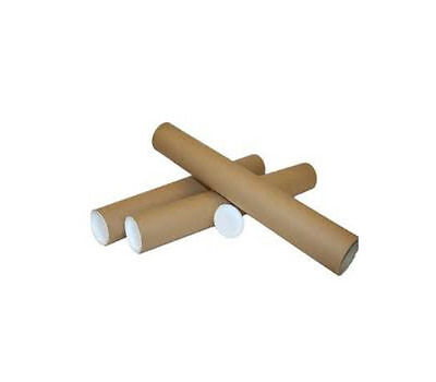 20 Brown Postage Tubes A3-A4 SIZE 330x45mm + CAPS