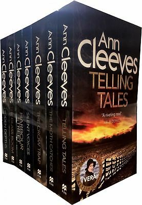 Ann Cleeves TV Vera Stanhope Series 7 Books Collection Set Pack Telling Tales