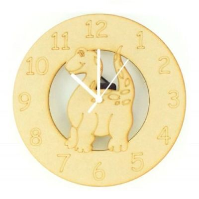 Children Wooden Dinosaur Themed Clock Kids Toddlers Child Nursery Furniture