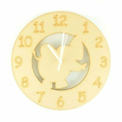 Childrens-Wooden-Elephant-Themed-Clock-Kids-Toddlers-Childs-Nursery-Furniture