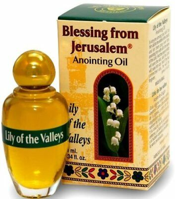Anointing Oil with Biblical Spices from Jerusalem .34oz 10ml Lily of the Valleys