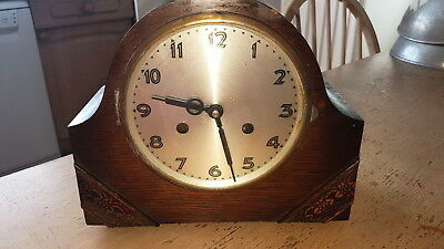 German Uws Vintage Westminster Chiming Mantel Clock Key Wind