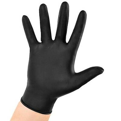 AURELIA BOLD STRONG BLACK NITRILE GLOVES - Single Pairs Available