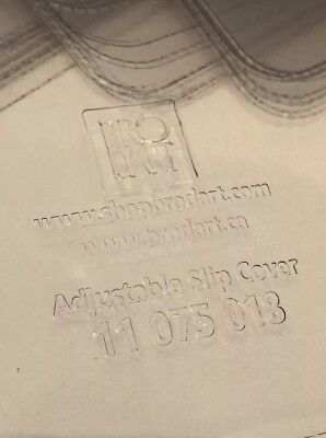 Lot of 5 Bro Dart Adjustable Slip Cover Clear 11 075 018 - 11 3/4 X 7 3/4