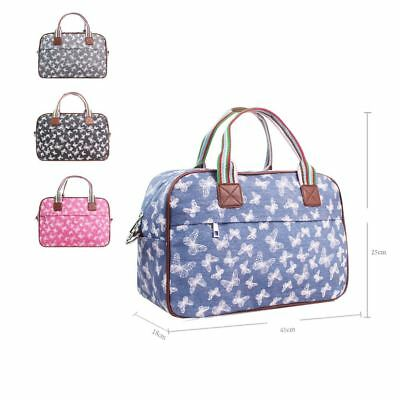 Women's Large Weekend Bag Ladies Butterfly Print Overnight Bag Girls Stylish Bag