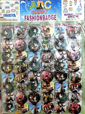 Attack on Titan 4.5CM LOT PIN BACK ANIME BADGES BUTTONS BAG CLOTH PARTY NEW
