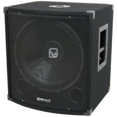 QTX Sound QT15S 15 Subwoofer Disco DJ Passive PA Bass Bin QT15 S Sub SINGLE