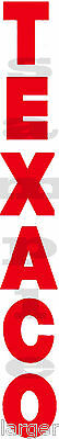 11 x 1.5 INCH TEXACO GAS / OIL DECAL RED (V)
