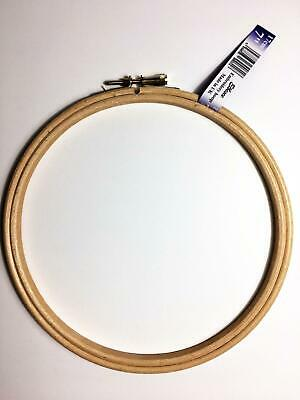 Elbesee High Quality Haedwood Embroidery Hoop with Metal Screw Fastening, 8'' -I
