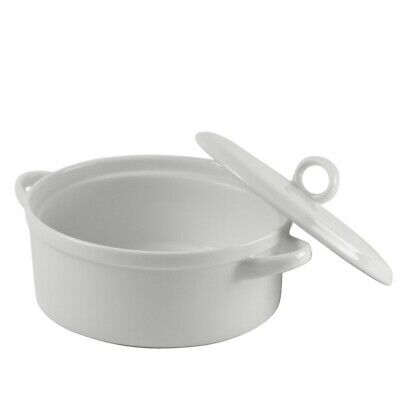 "10 Strawberry Street Delano 8"" Bakeware With Lid in White (Set of 2)"